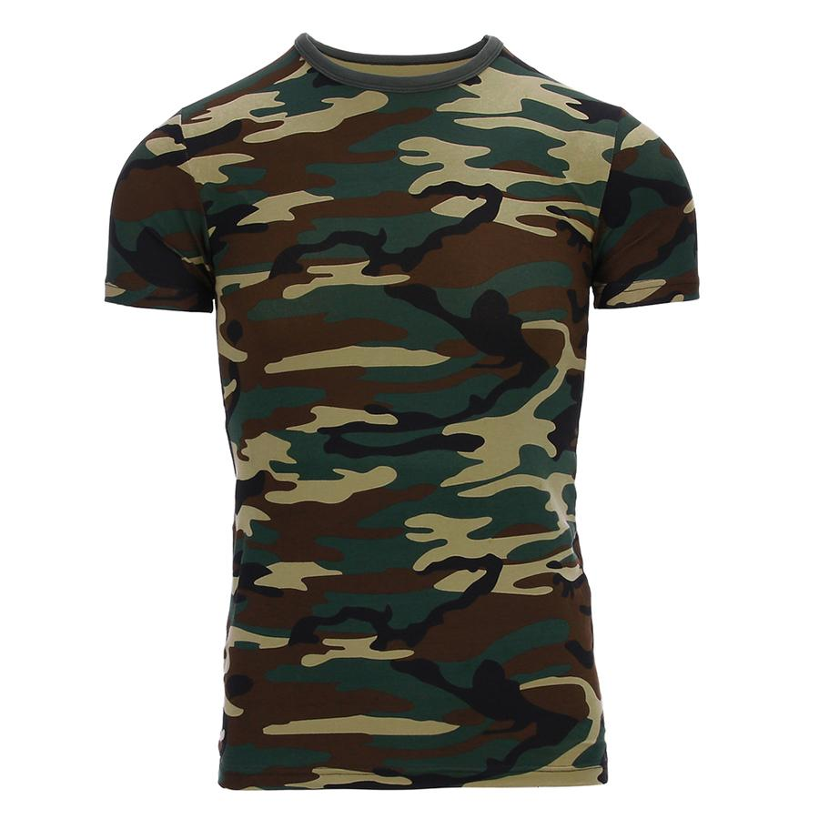 Kinder  T-shirt Woodland Camouflage-1039-a