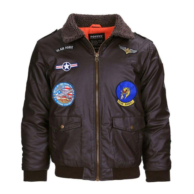 Kinder Bomberjack LederLook Brown-1298-a