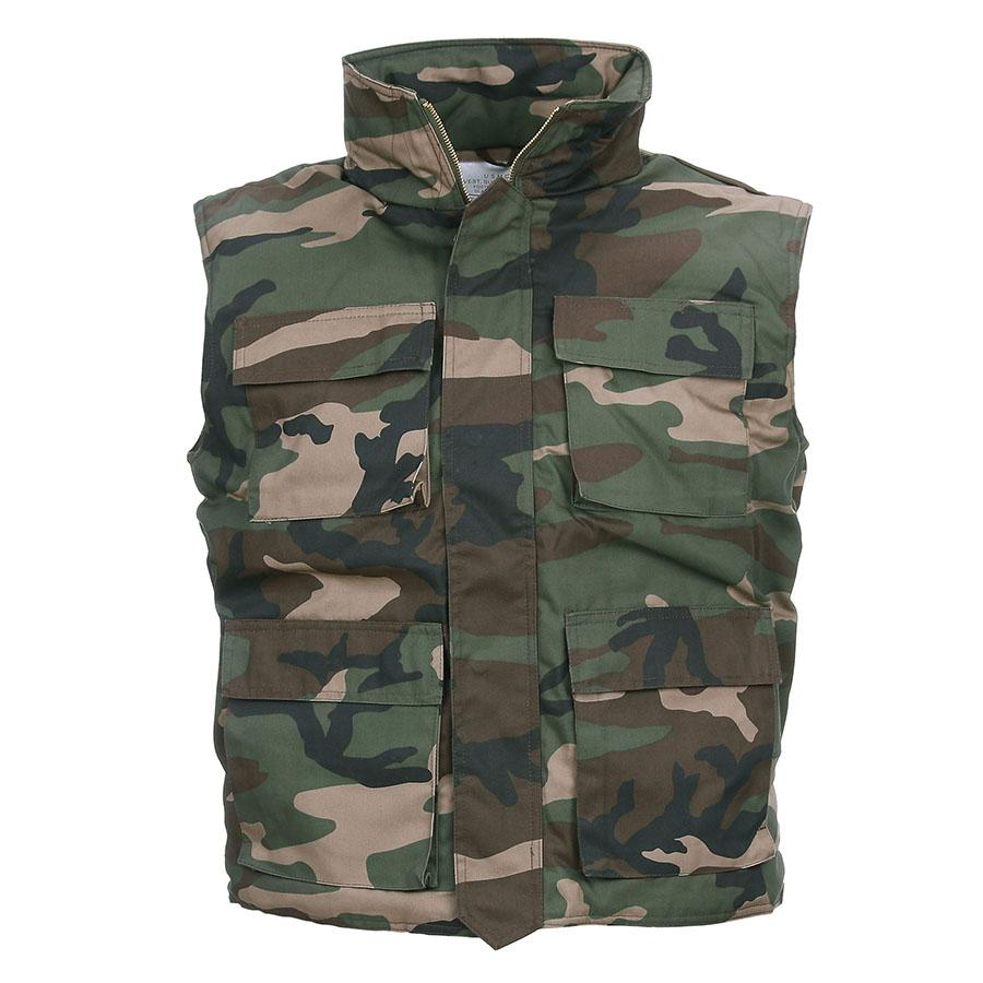 Bodywarmer Woodland Army Model-1366-a