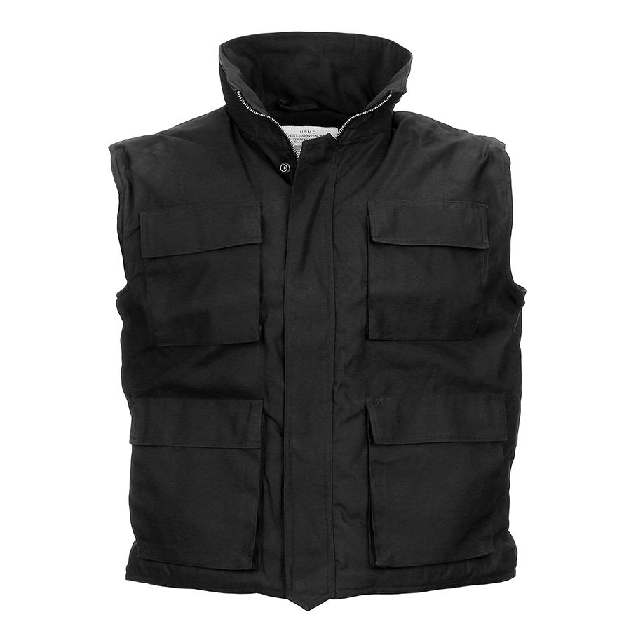 Bodywarmer Zwart Army Model-1368-a